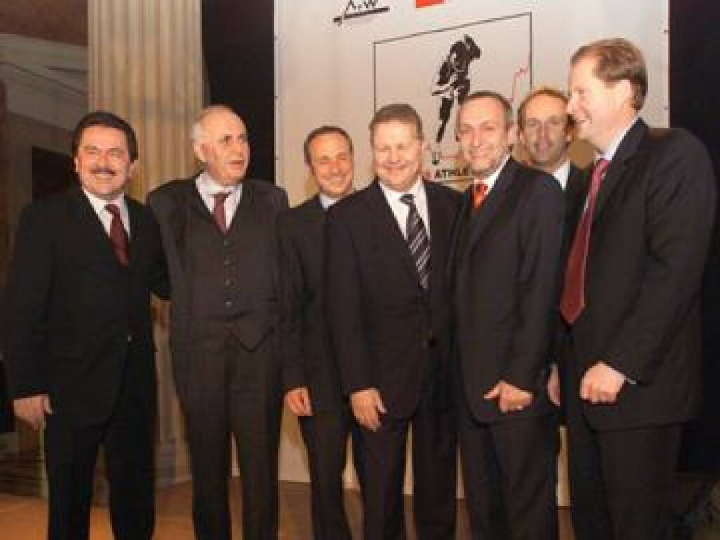 Die Veranstalter/Sponsoren: Muzik, Kuhn, Schutti, Auer von Welsbach, Fischer, Drastil, Martinsen (17.11.2014)