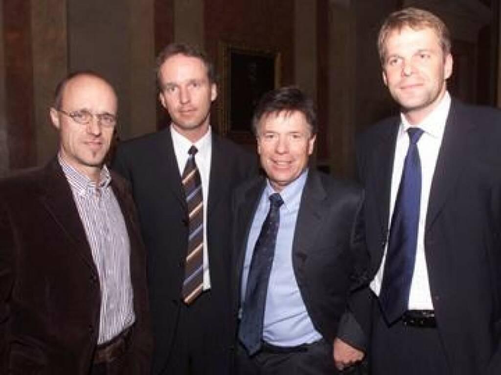 Toni Innauer, Award-Initiator Christian Drastil, Peter Schröcksnadel, Norbert Teufelberger (17.11.2014)