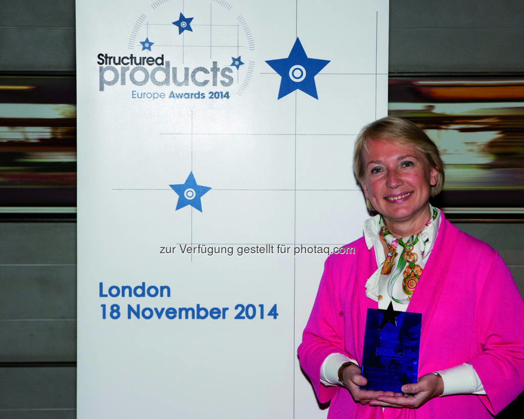 Heike Arbter, Head of Structured Products RCB; gewinnt mit ihrem Haus den Structured Products Europe Award, © Aussendung (20.11.2014)