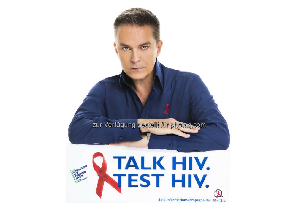 Alfons Haider (Kampagnenbotschafter der HIV-Testwoche) - Start der European HIV Testing Week. Die Aids Hilfe Wien sowie HIV-ExpertInnen aus dem Gesundheitsbereich beteiligen sich (Bild: Jürgen Hammerschmid für Aids Hilfe Wien), © Aussender (21.11.2014)