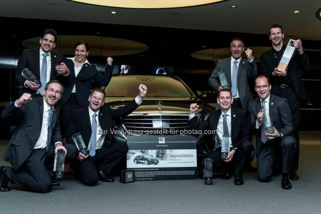Internationaler Wettbewerb für Mercedes-Benz Servicemitarbeiter: Team Deutschland – Gesamtsieger 2014 , © Aussendung (21.11.2014)
