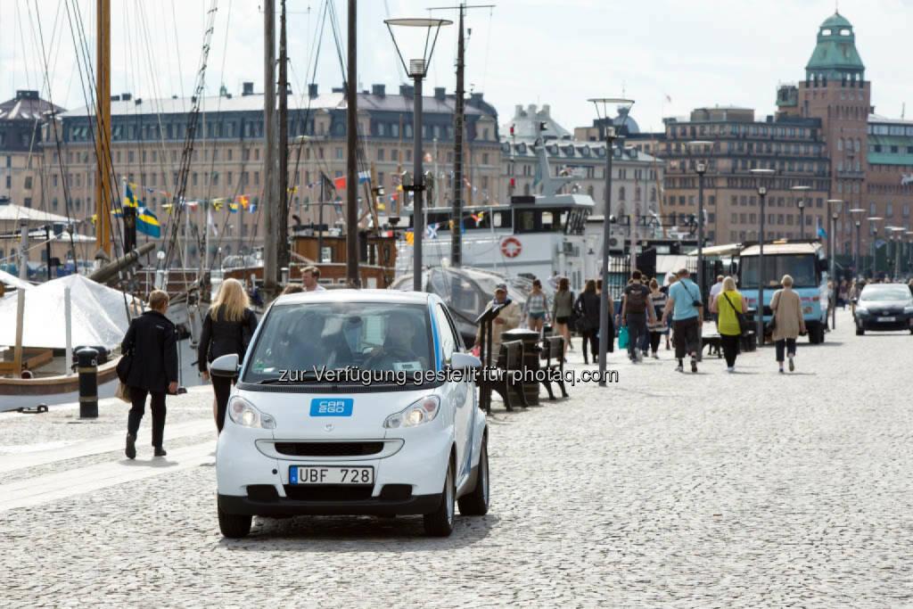 car2go startet in Stockholm und ab heute Smartphone-basiertes Mieten an allen Standorten möglich. (C) Markus Heimbach, Hamburg, © Aussendung (24.11.2014)