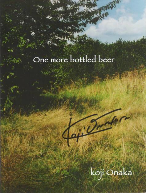 Koji Onaka - One More Bottled Beer, Self published 2014, Cover - http://josefchladek.com/book/koji_onaka_-_one_more_bottled_beer, © (c) josefchladek.com (27.11.2014)