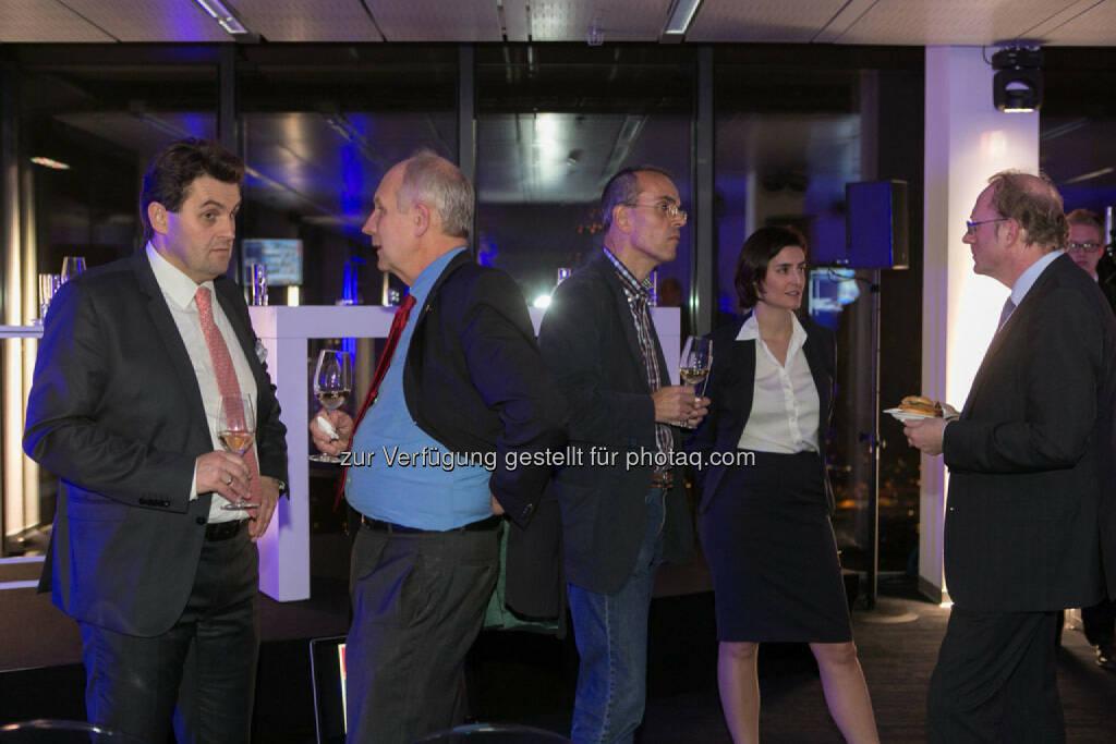 Dietmar Reindl (COO Immofinanz), Birgit Noggler (CFO Immofinanz) im Gespräch, http://privatanleger.immofinanz.com/, © Martina Draper für Immofinanz (27.11.2014)