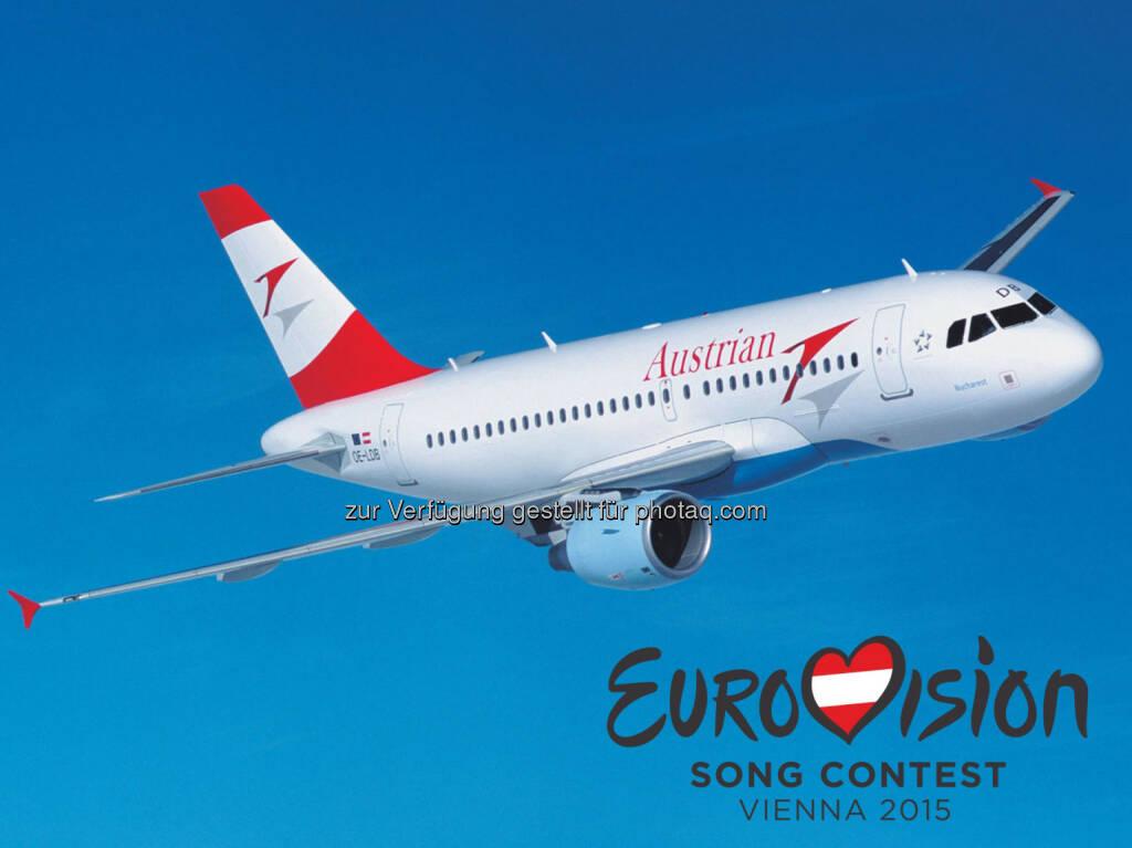 Austrian Airlines hebt 2015 als offizielle Fluglinie des Eurovision Song Contest ab., © Aussender (28.11.2014)