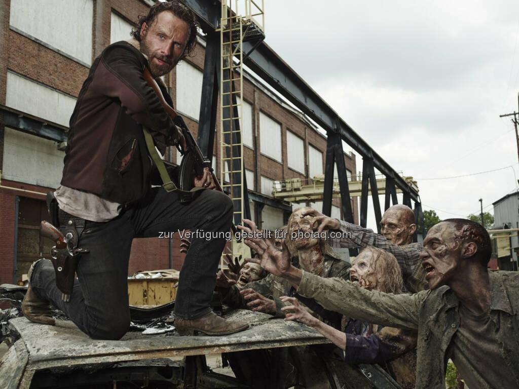 Andrew Lincoln (alias Rick Grimes): The Walking Dead geht in die internationale Winterpause: Globale Premiere von Staffel 5B ab 9. Februar 2015 (Bild: Frank Ockenfels 3/AMC), © Aussender (01.12.2014)