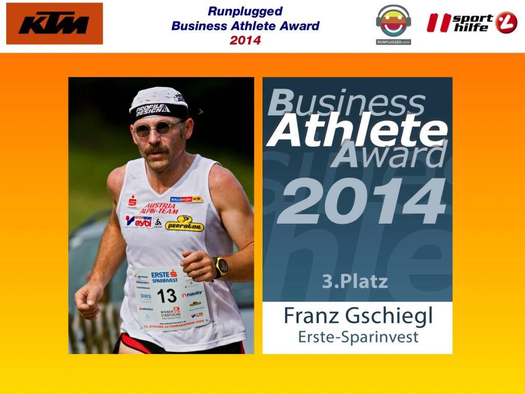 3. Platz Franz Gschiegl (02.12.2014)