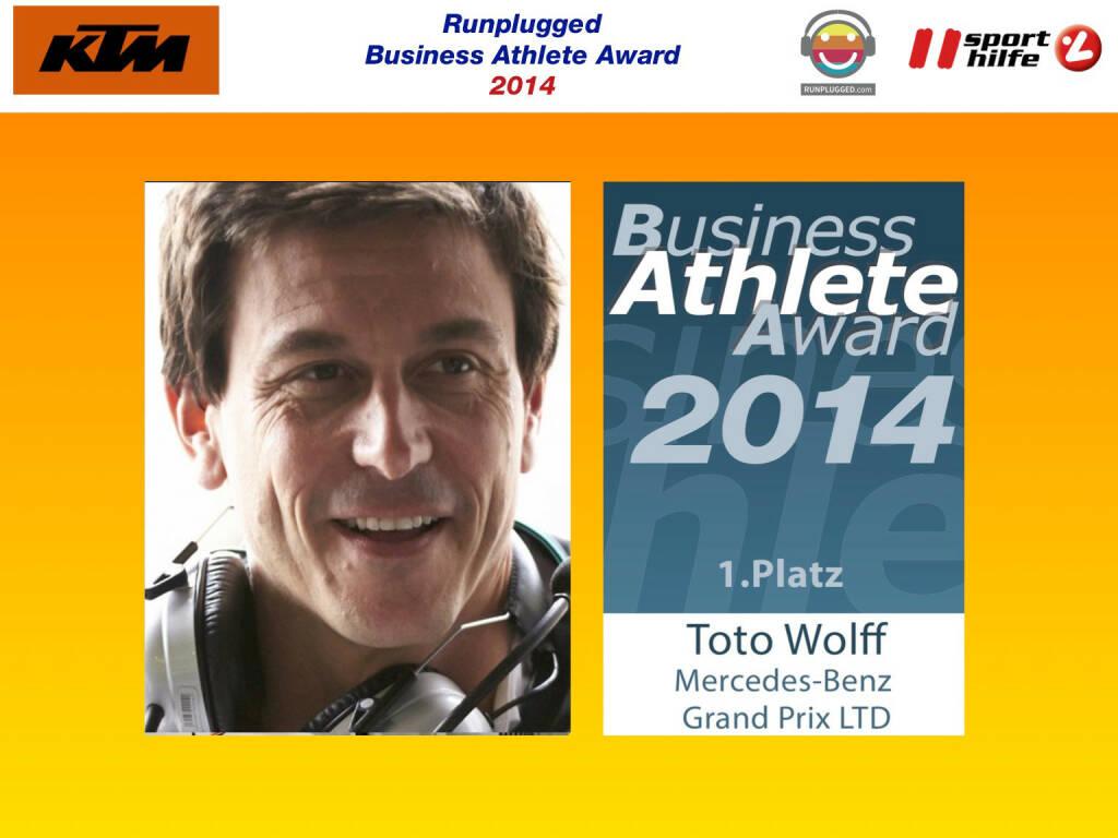 1. Platz Toto Wolff (02.12.2014)