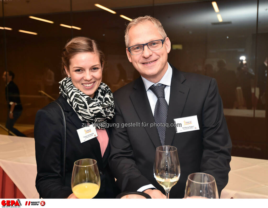 Carolyn Schweitzer and Wolfgang Eggerl. (Photo: GEPA pictures/ Martin Hoermandinger) (02.12.2014)