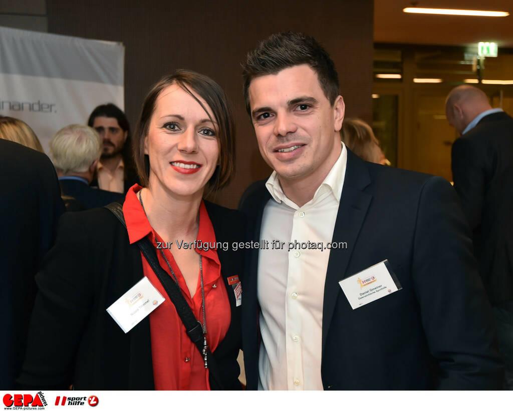 Nicole Trimmel und Daniel Gmeiner. (Photo: GEPA pictures/ Martin Hoermandinger) (02.12.2014)