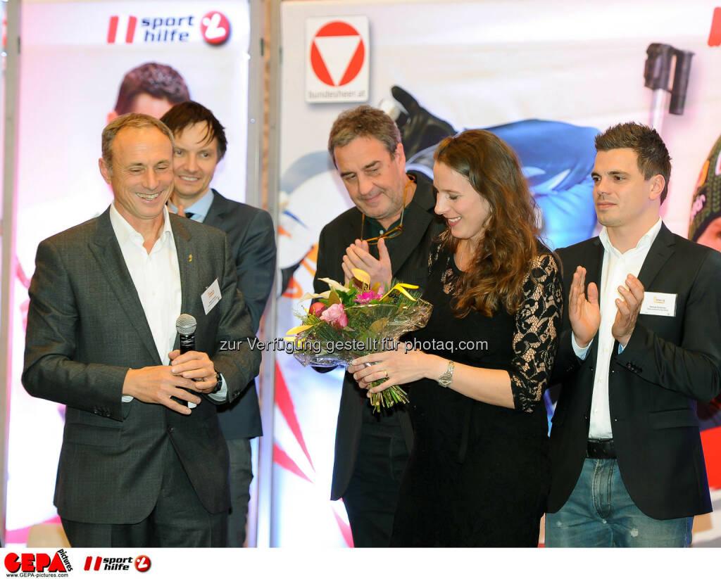 Werner Starz, Anton Schutti, Barbara Leitner and Daniel Gmeiner (Sporthilfe). (Photo: GEPA pictures/ Martin Hoermandinger) (02.12.2014)