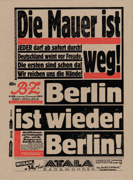 Mark Power - Die Mauer ist weg!, Globtik Books 2014, Cover - http://josefchladek.com/book/mark_power_-_die_mauer_ist_weg, © (c) josefchladek.com (04.12.2014)