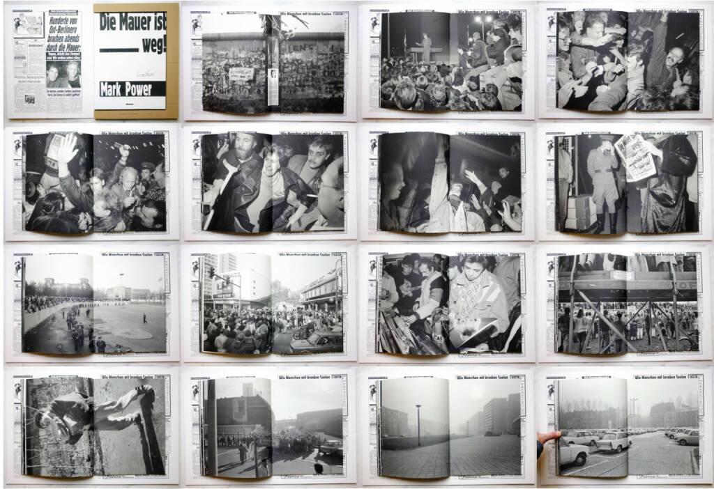 Mark Power - Die Mauer ist weg!, Globtik Books 2014, Beispielseiten, sample spreads - http://josefchladek.com/book/mark_power_-_die_mauer_ist_weg, © (c) josefchladek.com (04.12.2014)