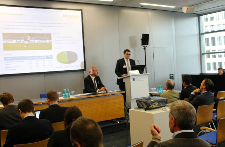 Klaus Fahrnberger, bet-at-home.com, beim Deutschen Eigentkapitalforum