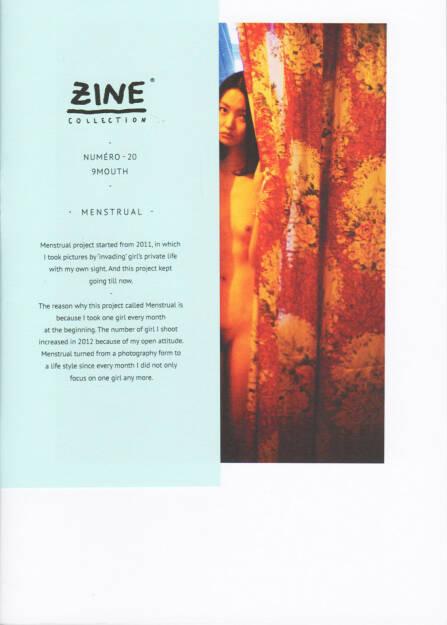 9Mouth - Menstrual, Edition Bessard 2014, Cover - http://josefchladek.com/book/9mouth_-_menstrual, © (c) josefchladek.com (10.12.2014)