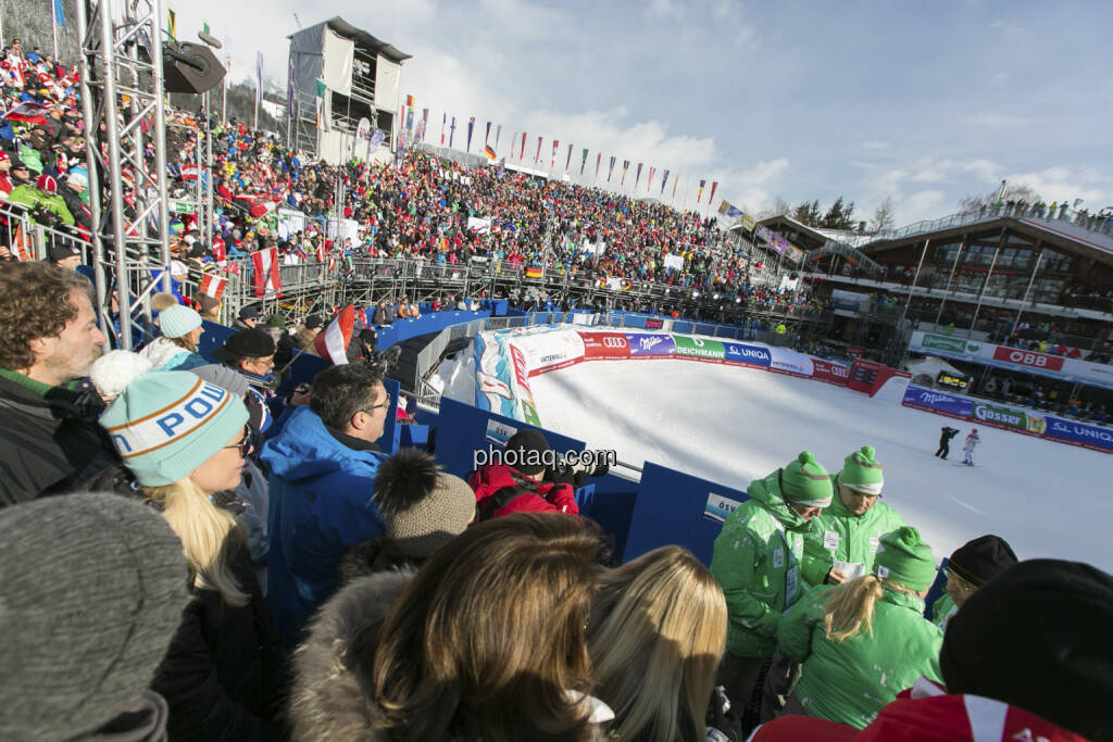 Zielstadion Alpine Ski WM 2013, Schladming, © finanzmarktfoto.at/Martina Draper (09.02.2013)