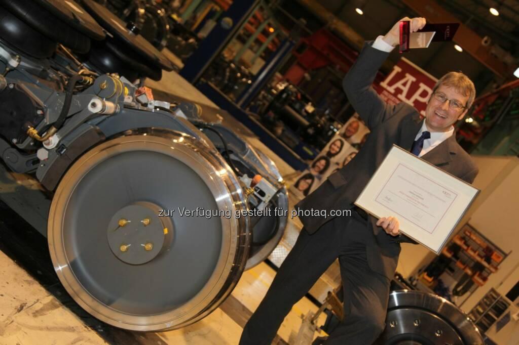 """Grazer Harald Kiendler von Siemens ist """"Project Manager of the Year""""., © Aussendung (17.12.2014)"""
