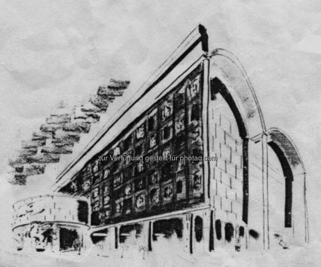Polnischer Pavillon, Weltausstellung New York, Wettbewerb 1938, 2. Preis, Reproduktion: Tadeusz Barucki, Warschau, © (VIG beigestellt) (09.02.2013)