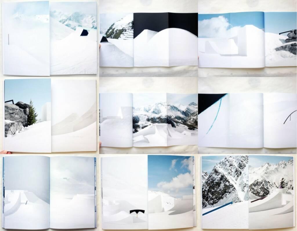 Philippe Fragnière - Snowpark, Kodoji Press 2014, Beispielseiten, sample spreads - http://josefchladek.com/book/philippe_fragniere_-_snowpark, © (c) josefchladek.com (20.12.2014)