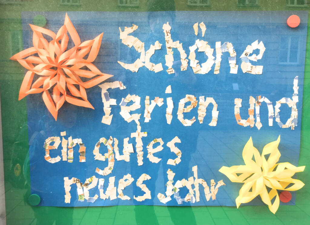 Schöne Ferien und ein gutes neues Jahr (23.12.2014)