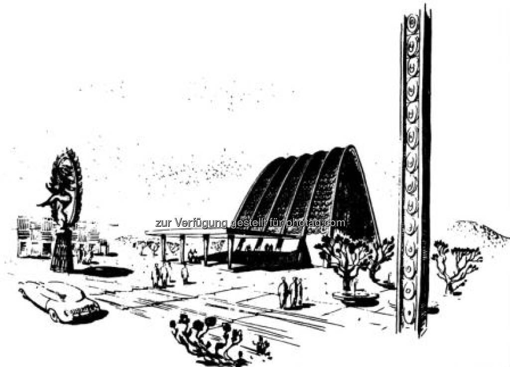 Chandigarh - Studienprojekt Parlamentsgebäude, Architectural Record 9/1954, © (VIG beigestellt) (09.02.2013)