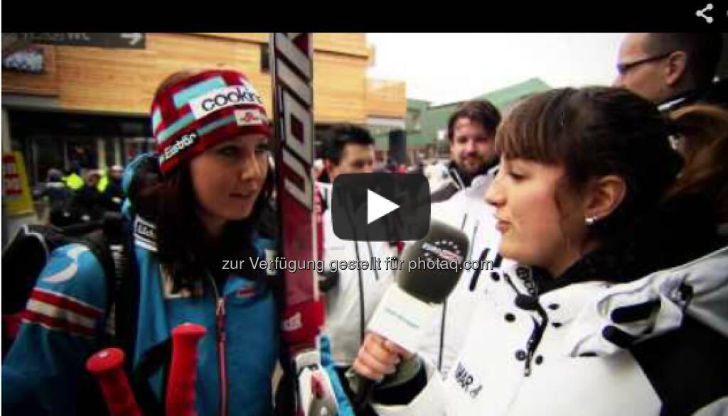 Cornelia Hütter, eines der jungen Nachwuchstalente aus dem österreichischen Skiteam geht bei der Damen-Abfahrt als Vorläuferin an den Start http://voestalpine-wm-blog.at/2013/02/09/vorlauferin-bei-der-damen-abfahrt-conny-hutter/#.URdZAo7aK_Q, &copy; <a href=