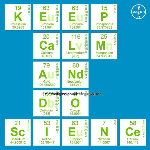 Bayer: Keep #calm and do #Science  Source: http://facebook.com/Bayer, © Aussender (31.12.2014)