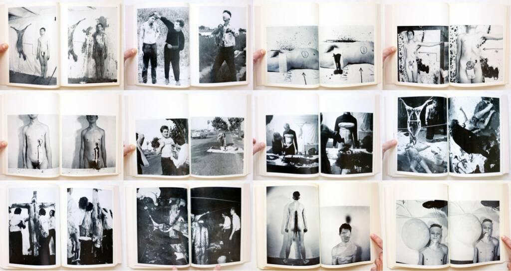 Heinz Cibulka - Mein Körper bei Aktionen von Nitsch – Schwarzkogler, Edizioni Morra 1977, Beispielseiten, sample spreads - http://josefchladek.com/book/heinz_cibulka_-_mein_korper_bei_aktionen_von_nitsch_schwarzkogler, © (c) josefchladek.com (04.01.2015)