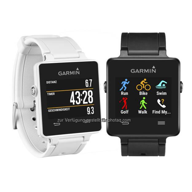 Garmin Austria GmbH: vívoactive(TM) und vívofit(TM) 2 - fit und smart ins neue Jahr: Garmin vivoactive - neue fitnessorientierte Smartwatch von Garmin., © Aussendung (05.01.2015)