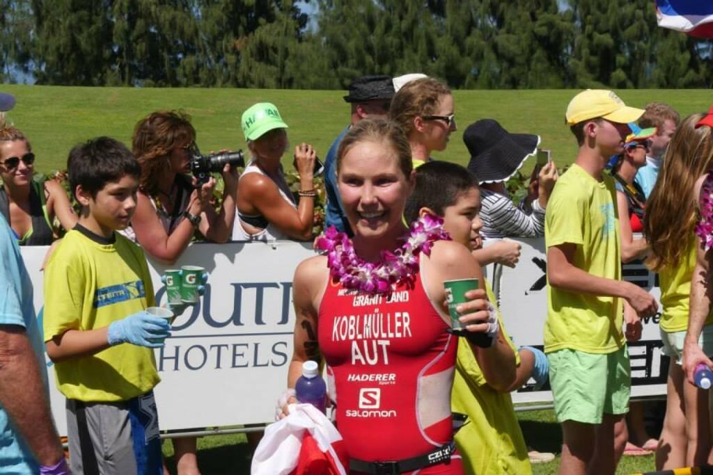 Sandra Koblmüller, Crosstriathlon Staatmeisterin Österreich, in Maui, Hawaii  -  mit freundlicher Genehmigung von http://www.facebook.com/sandra.koblmueller © Schaedle Media, © Aussendung (06.01.2015)
