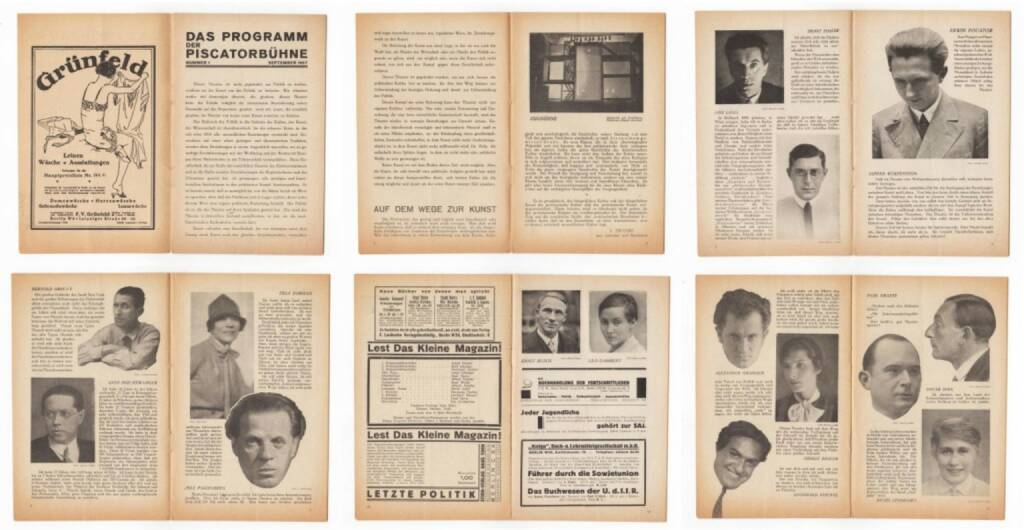 Blätter der Piscatorbühne - Das Programm der Piscatorbühne (Nummer 1 September 1927), Bepa-Verlag 1927, Beispielseiten, sample spreads -http://josefchladek.com/book/blatter_der_piscatorbuhne_-_das_programm_der_piscatorbuhne_nummer_1_september_1927, © (c) josefchladek.com (07.01.2015)