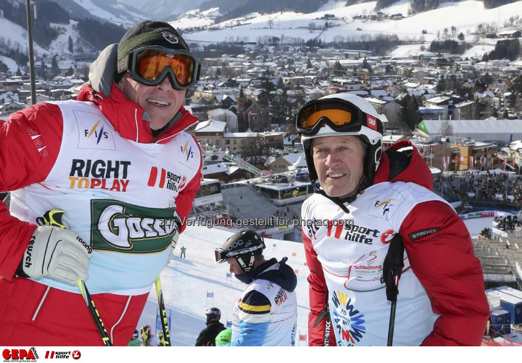 Harti Weirather und Bernhard Russi. Foto: GEPA pictures/ Hans Simonlehner, © GEPA/Sporthilfe (10.02.2013)