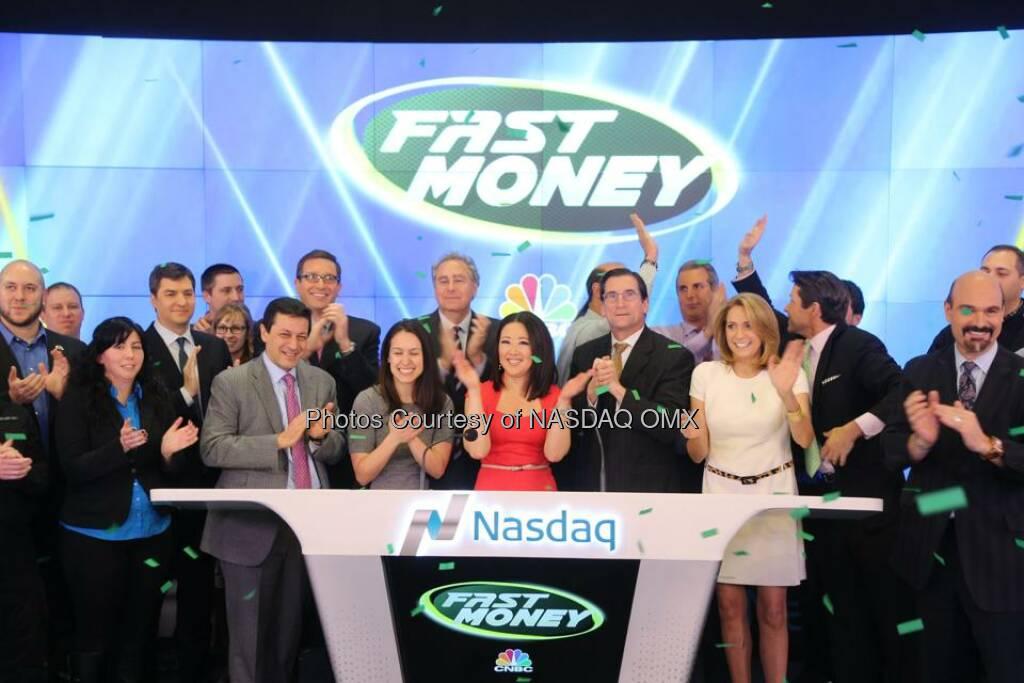 CNBC Fast Money rang the Nasdaq Closing Bell in celebration of their 8th Anniversary! #HappyAnniversary  Source: http://facebook.com/NASDAQ (09.01.2015)