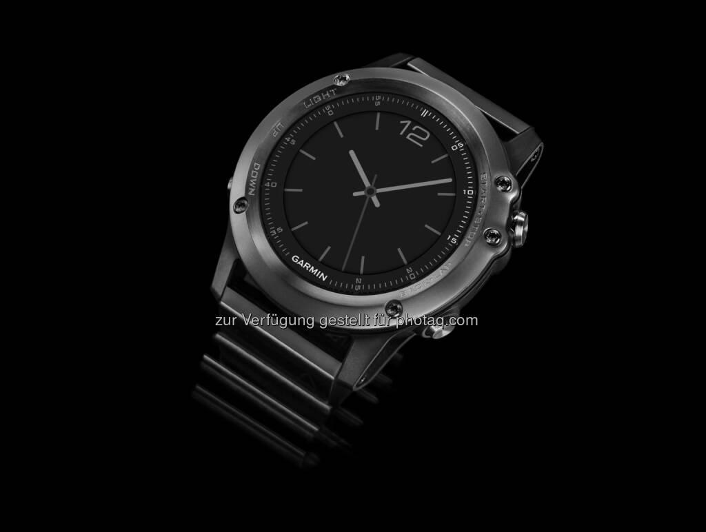 Garmin stellt auf der CES mit der fenix 3 die bereits dritte Generation der erfolgreichen fenix-Serie vor und erweitert damit seine Premium Outdoor/Sport-Uhren um ein neues Modell., © Aussendung (09.01.2015)