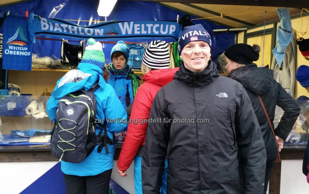 Christian-Hendrik Knappe (Deutsche Bank) beim Biathlon in Oberhof, © Aussendung (10.01.2015)