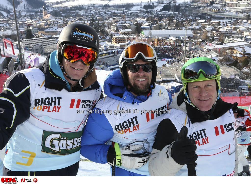 Michael Walchhofer, Marco Buechel und Didier Cuche. Foto: GEPA pictures/ Hans Simonlehner, © GEPA/Sporthilfe (10.02.2013)