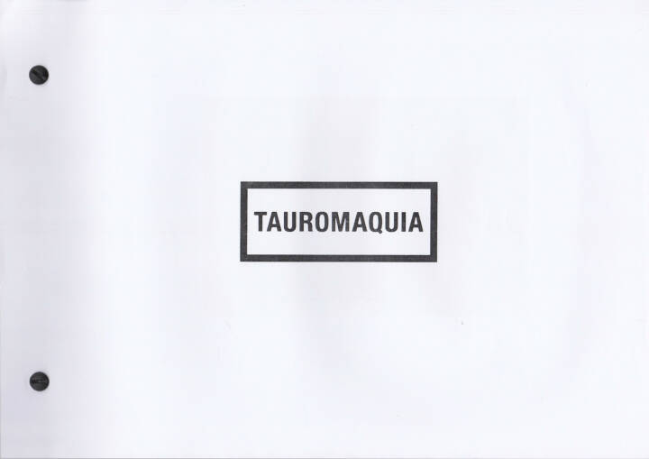 Julián Barón - Tauromaquia, Self published 2014, Cover - http://josefchladek.com/book/julian_baron_-_tauromaquia