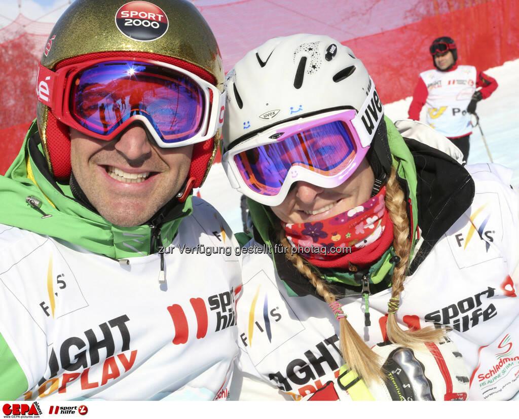 Hans Knauss und Janica Kostelic. Foto: GEPA pictures/ Hans Simonlehner, © GEPA/Sporthilfe (10.02.2013)
