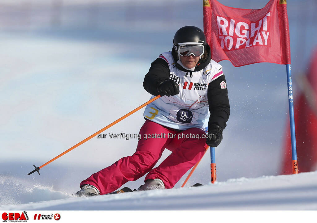 Carole Montillet (Team Ohlala). Foto: GEPA pictures/ Christian Walgram, © GEPA/Sporthilfe (10.02.2013)