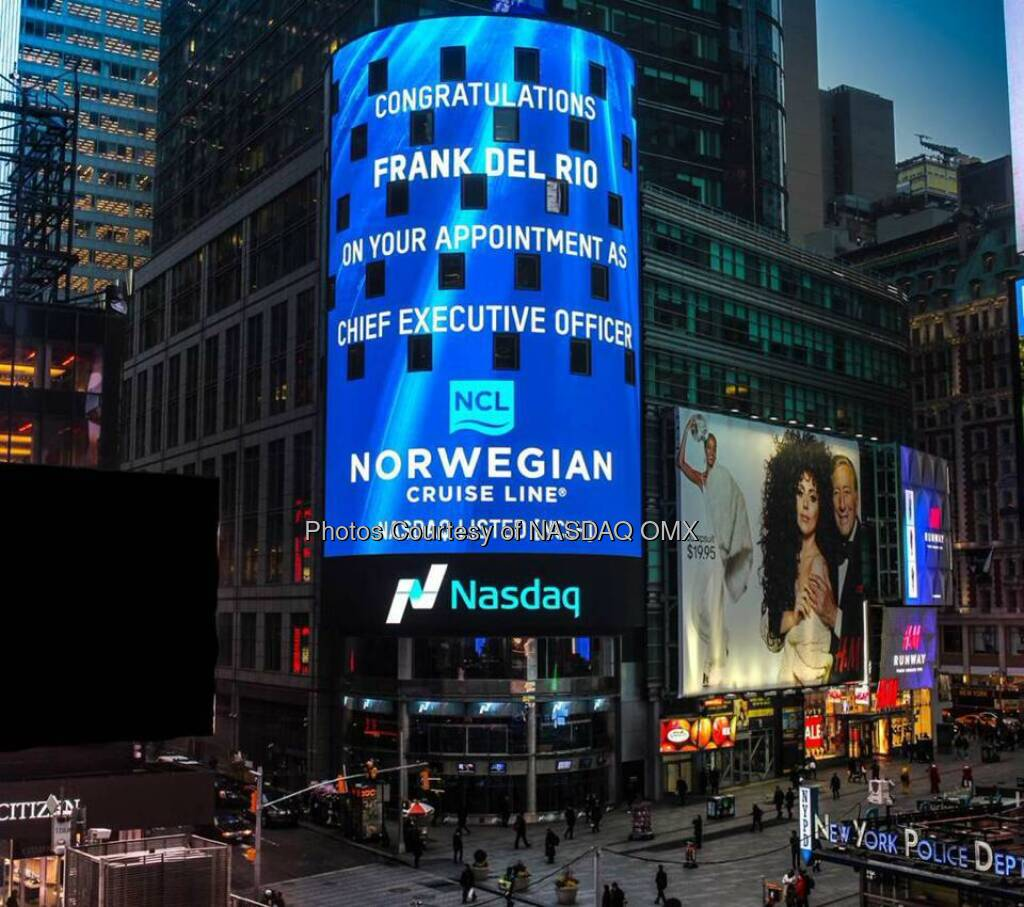 Congratulations Frank Del Rio on your appointment as CEO of Norwegian Cruise Line$NCLH  Source: http://facebook.com/NASDAQ (19.01.2015)