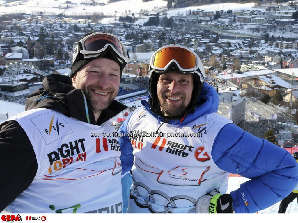 Kjetil Andre Aamodt und Marco Buechel. Foto: GEPA pictures/ Hans Simonlehner, © GEPA/Sporthilfe (10.02.2013)