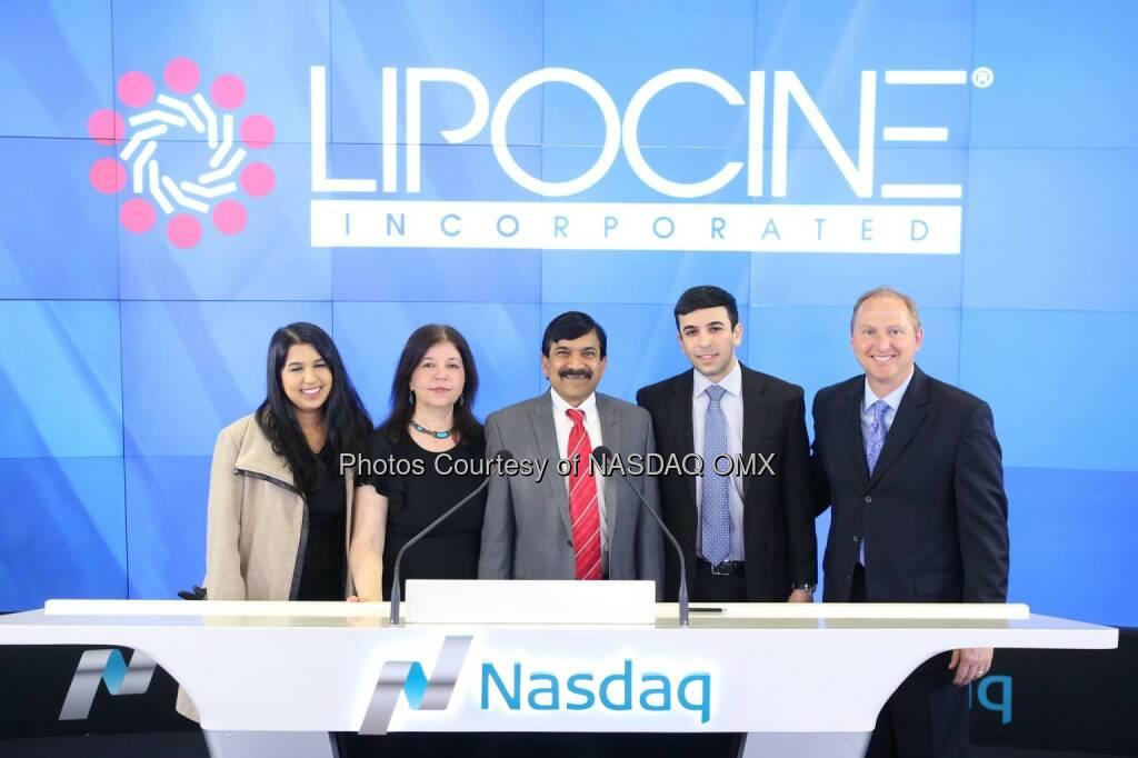 Lipocine Inc. rings the #Nasdaq Closing Bell! $LPCN  Source: http://facebook.com/NASDAQ (21.01.2015)
