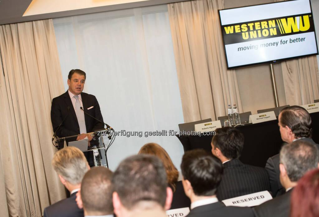 Hikmet Ersek, President and CEO Western Union: European Business Forum und Compliance-Konferenz, © Aussender (21.01.2015)