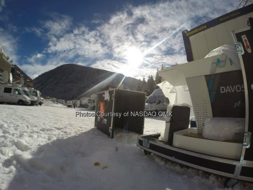 #unboxing the Nasdaq Podium for our Davos Bell Ceremony tomorrow morning! #wef15  Source: http://facebook.com/NASDAQ (22.01.2015)