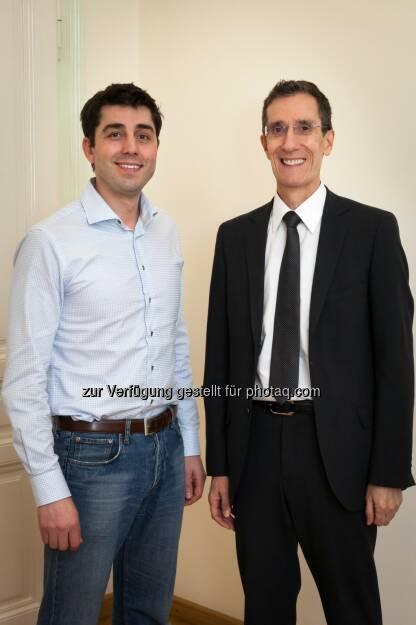 Joe Pichlmayr (Ikarus) und Wolfgang Horak (ICT Austria): Kapsch AG: IT-Security made in A: Ikarus ist neues Mitglied von ICT Austria, © Aussendung (27.01.2015)