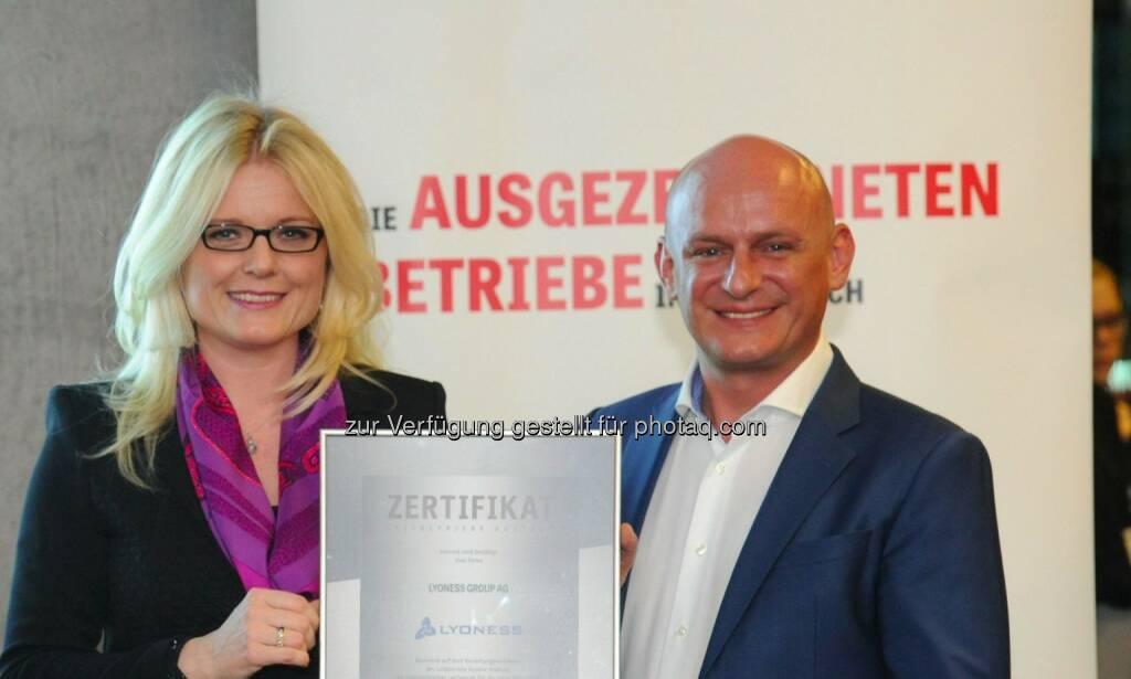 Leitbetriebe Austria-Geschäftsführerin Monica Rintersbacher, Lyoness-CEO Hubert Freidl, © leisure.at/Sabine Klimpt (28.01.2015)