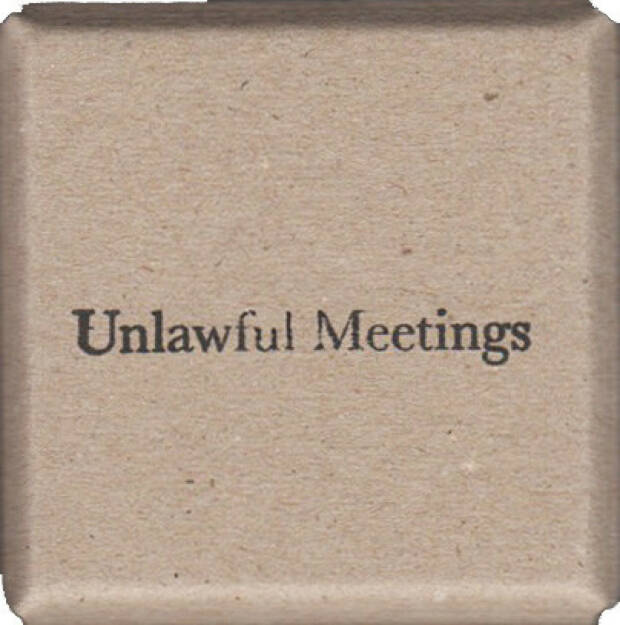 Lina Hashim - Unlawful Meetings, Self published 2014, Cover - http://josefchladek.com/book/lina_hashim_-_unlawful_meetings, © (c) josefchladek.com (30.01.2015)