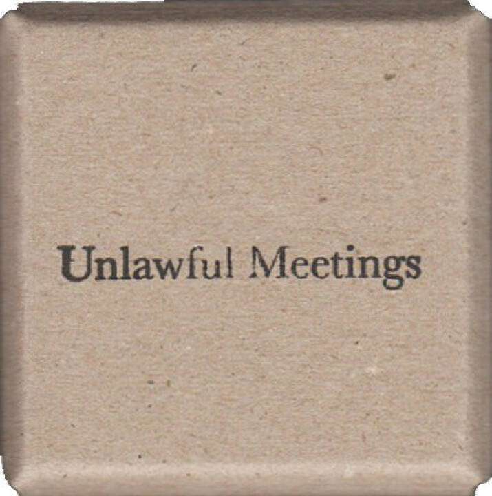 Lina Hashim - Unlawful Meetings, Self published 2014, Cover - http://josefchladek.com/book/lina_hashim_-_unlawful_meetings