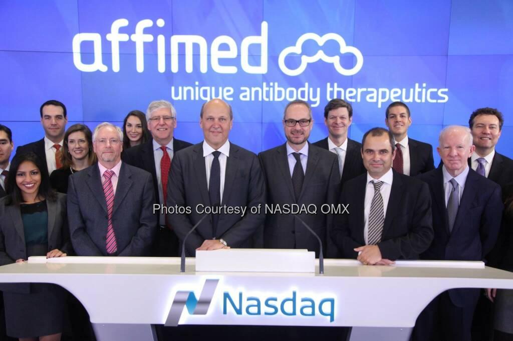 Affimed N.V. Rings the #Nasdaq Opening Bell! $AFMD  Source: http://facebook.com/NASDAQ (30.01.2015)