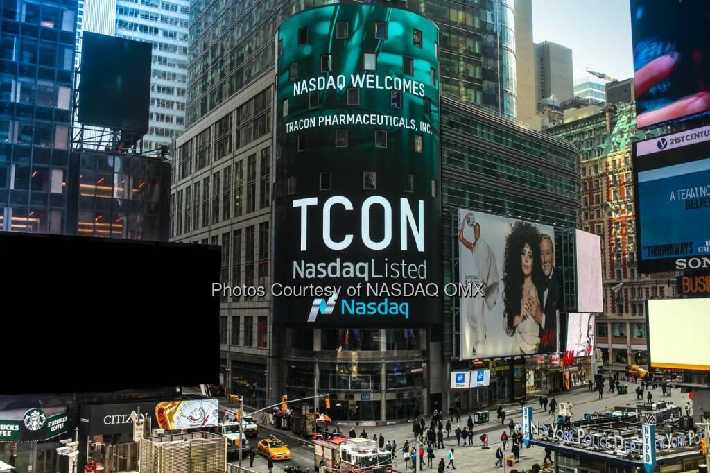 Nasdaq proudly welcomes Tracon Pharmaceuticals, Inc to the #Nasdaq Stock Market! $TCON #IgniteYourAmbition  Source: http://facebook.com/NASDAQ (02.02.2015)